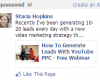 leads with YOUTUBE PPC and FACEBOOK Sponsored Updates
